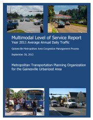 Multimodal Level of Service Report - North Central Florida Regional ...
