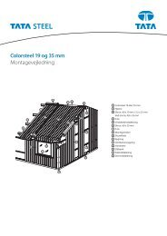 Colorsteel 19 og 35 mm Montagevejledning - Velkommen til Tata Steel