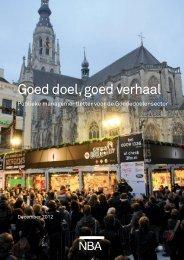 Goed doel, goed verhaal - Samenwerkende Brancheorganisaties ...