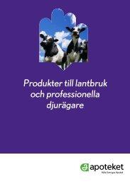 Produkter till lantbruk och professionella djurägare - Apoteket