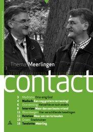 Contact 01-13 - Kerkgenootschap der Zevende-dags Adventisten