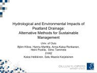 Hydrological and Environmental Impacts of Peatland Drainage - fincid