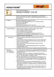 HENSOTHERM® 3 KS binnen - Vari-project