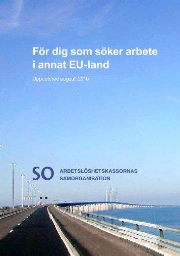 För dig som söker arbete i annat EU-land