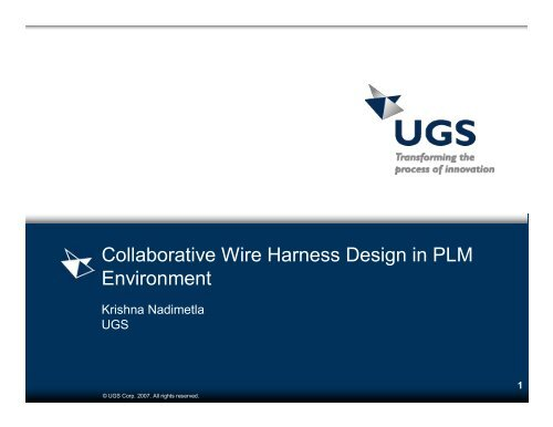Collaborative Wire Harness Design in PLM ... - NASA STEP Central on