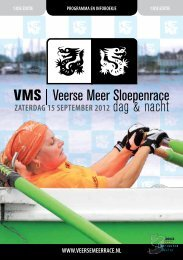ZAtERdAG 15 SEPtEMBER 2012 - Veerse Meer Sloepenrace!