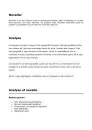 Noveller Analyse Analyse af novelle