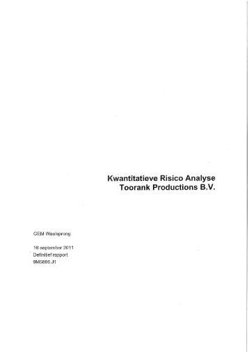 Bijlage 7 Kwanitatieve risico analyse Toorank - Gemeente Nijmegen