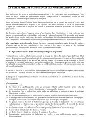 LE REFERENTIEL DE COMPÉTENCES DES ... - IUFM