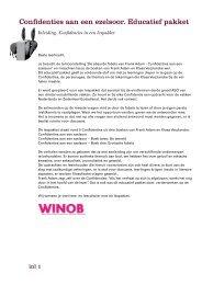 Confidenties aan een ezelsoor. Educatief pakket - Winob