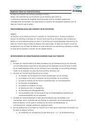 Reglement Raad van Toezicht Driezorg De Raad van Toezicht van ...