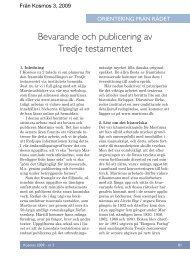 Bevarande och publicering av Tredje testamentet - Martinus Institut