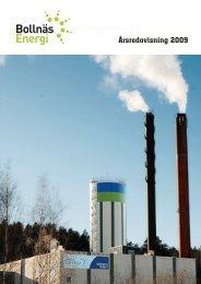 Årsredovisning 2009 - Bollnäs Energi