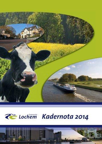 Kadernota 2014 - Gemeente Lochem