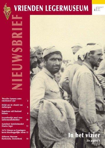 Nieuwsbrief April 2012 - Vrienden van het Legermuseum