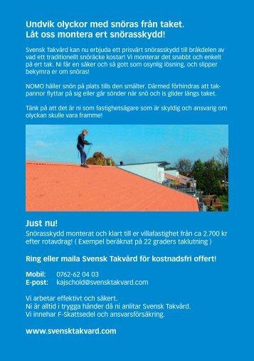 Undvik olyckor med snöras från taket. Låt oss ... - ServiceFinder