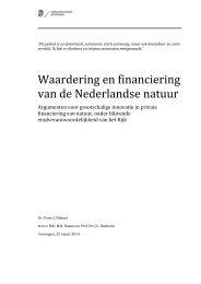 Waardering en financiering van de Nederlandse natuur