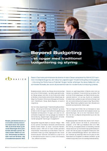 beyond budgeting breaking free from the Who needs budgets jeremy hope breaking free from the budget vise organizations that have gone beyond budgeting can be found today in a range of countries.