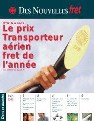 Le prix Transporteur aérien fret de l'année Le prix Transporteur ...