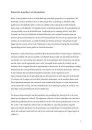 Democratie als gastheer populisme - Montesquieu Instituut