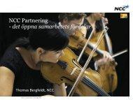 NCC Partnering - det öppna samarbetets fördelar