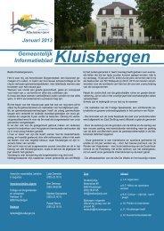 Gemeentelijk informatieblad januari - Gemeente Kluisbergen