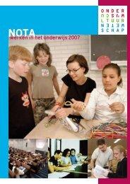 nota Werken in het onderwijs 2007 - Beter Onderwijs Nederland