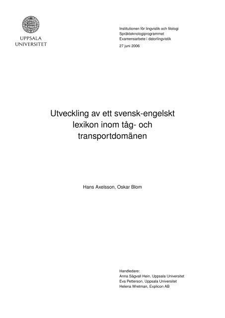svensk engelskt lexikon meningar