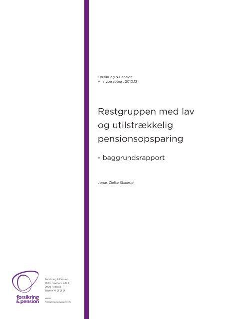 Download rapport - Forsikring & Pension