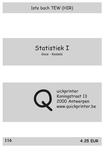 116 Statistiek - Quickprinter