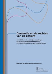 Dementie en de rechten van de patiënt - CMLP