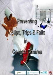 Preventing slips, trips and falls in contact centres - the CWU