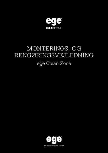 Monterings- og rengøringsvejledning - Egetæpper