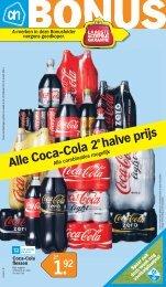 Alle Coca-Cola 2 e halve prijs - Albert Heijn Sleeuwijk