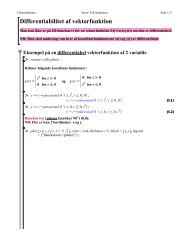 Differentiabilitet af vektorfunktion - Steen Toft Jørgensen