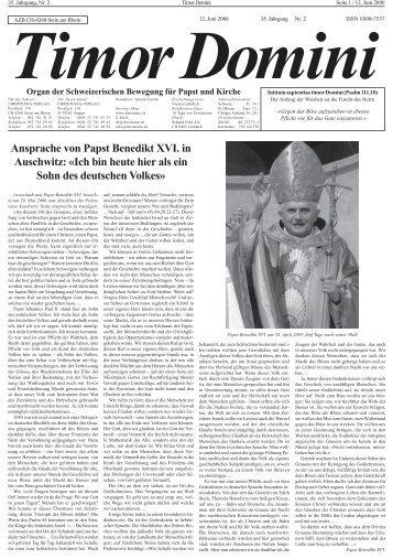 Ansprache von Papst Benedikt XVI. in Auschwitz ... - Christiana-Verlag