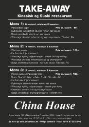 Hent China House take-away spisekort.