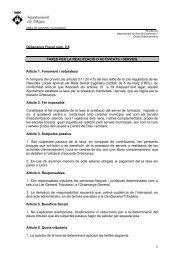 1 Ordenança Fiscal núm. 2.8 TAXES PER LA REALITZACIÓ D ...