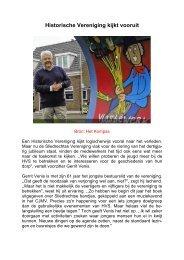 Historische Vereniging kijkt vooruit - Historische Vereniging Sliedrecht