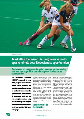 Marketing toepassen, is (nog) - Vlaamse Sportfederatie