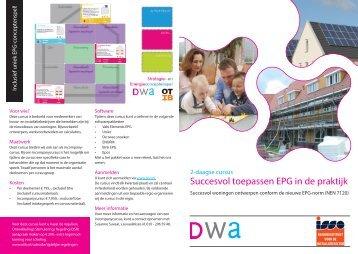 Succesvol toepassen EPG in de praktijk - DWA