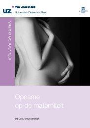 Opname op de materniteit - UZ Gent