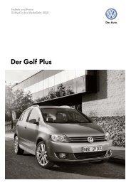 Der Golf Plus - Tauwald Automobile