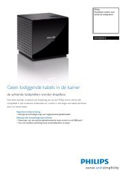 PHILIPS RWSS5510/00 TV meubelen datasheet - EASI-SHOP