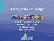 Odd Inge Vistad, NINA - Villrein.no