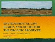 environmental law - Canadian Organic Growers