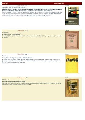Interieur Interior design - Antiquariaat Clio / Cliobook