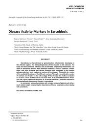 Disease Activity Markers in Sarcoidosis
