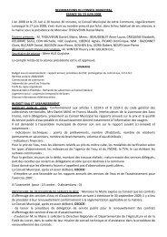 DELIBERATIONS DU CONSEIL MUNICIPAL SEANCE DU 23 JUIN ...