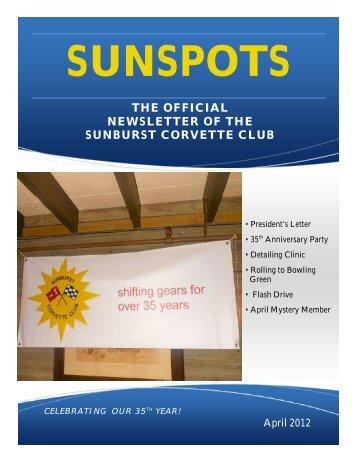 THE OFFICIAL NEWSLETTER OF THE ... - Sunburst Corvette Club